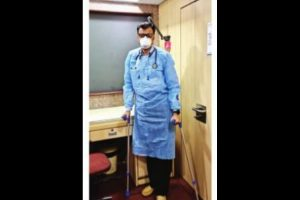 A cancer survivor with crutches, Dr Rahul Jain is beacon of hope for Covid-19 patients