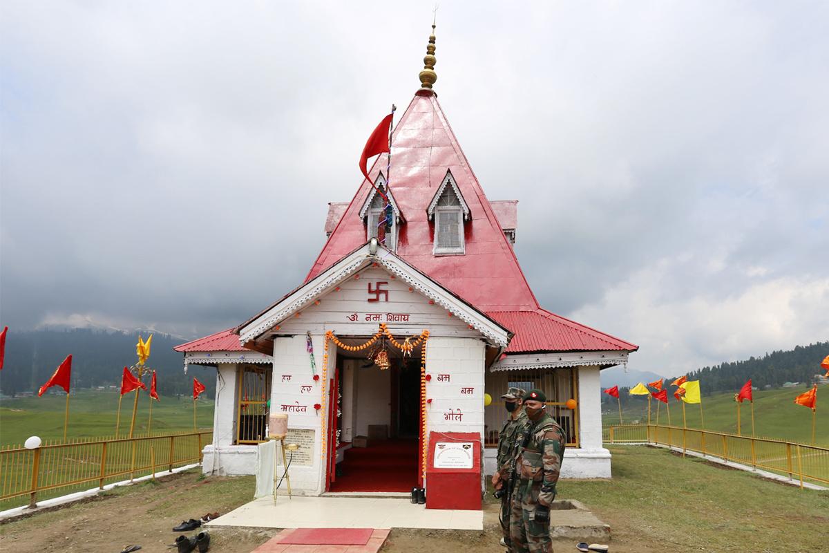Century old temple, Gulmarg, Army