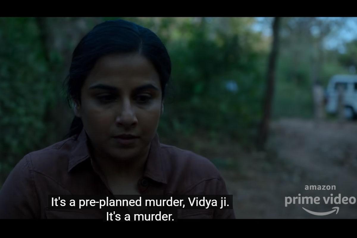 Sherni Official Trailer, Vidya Balan, Vijay Raaz, Neeraj Kabi