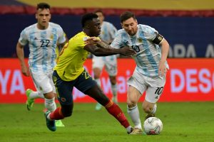 Argentina beat Colombia to set up final against Brazil