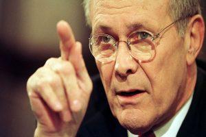 Rumsfeld, a cunning leader who oversaw a ruinous Iraq war