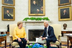 Biden meets Merkel at WH, raises concerns about Nord Stream 2