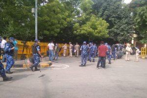 Farmers protest: Multi-layer security at Jantar Mantar