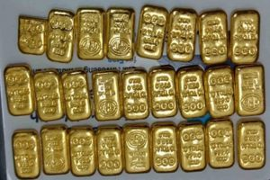 8.17 kg gold seized at Chennai airport, 2 held
