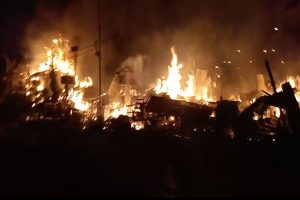 30 shops gutted in fire, one injured : WEST BENGAL