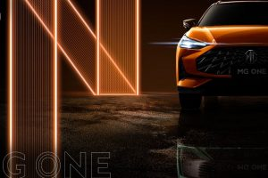 MG Motor has released teaser images of its latest SUV, the MG One