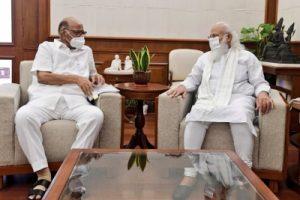 NCP president Sharad Pawar meets PM Modi