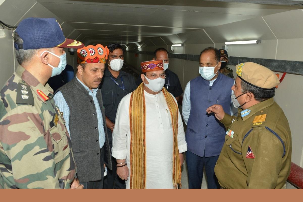 Atal Tunnel Rohtang, JP Nadda, Jai Ram Thakur
