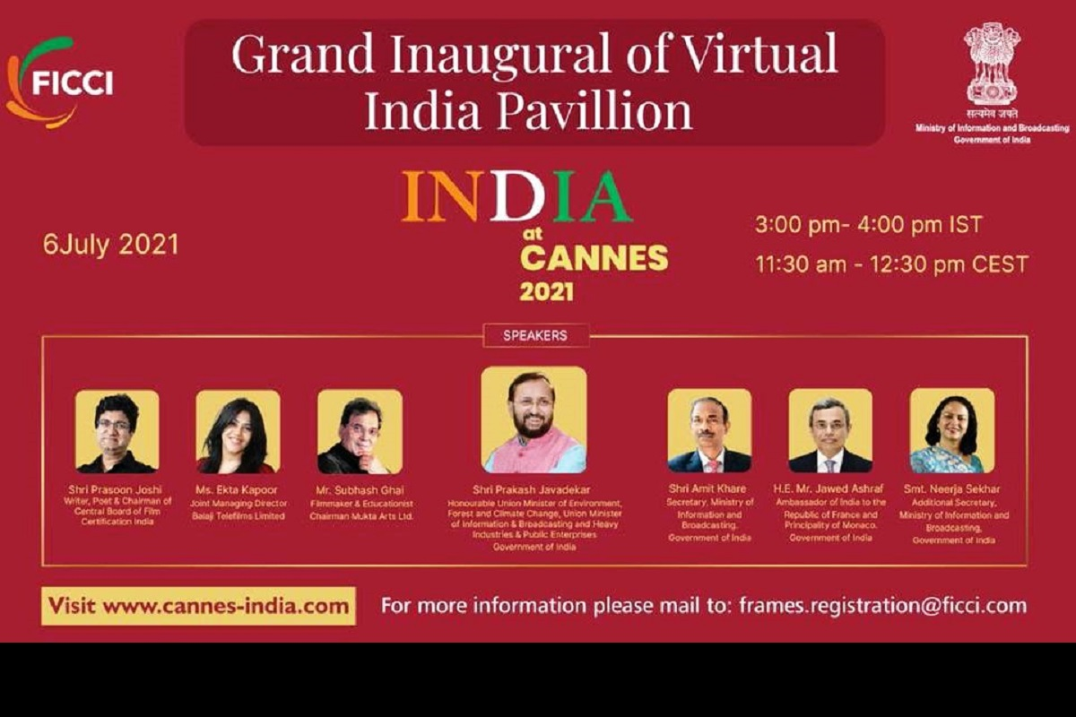 Prakash Javadekar, India Pavilion at Cannes Film Market 2021, Virtual India Pavilion