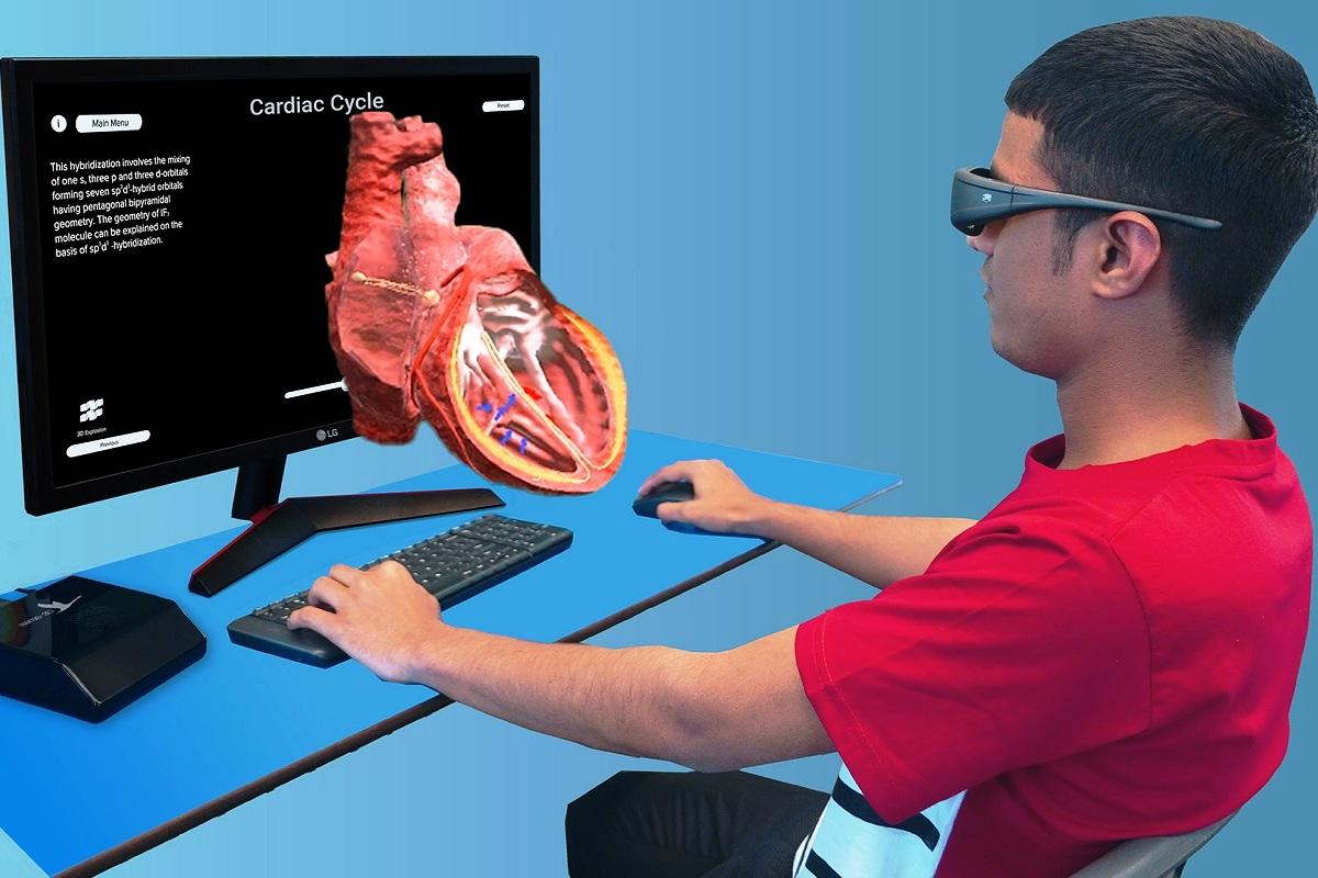 Saras-3D, stereoscopic 3D technology, K12 students