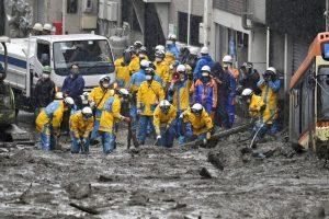 Japan landslide kills 3; some 80 missing