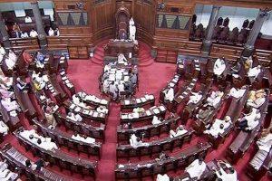 Rajya Sabha adjourned till Monday amid Opposition protest