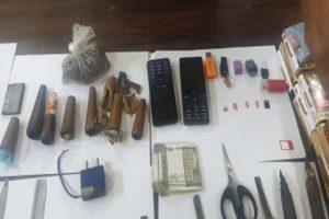 Arms, ganja & phones recovered from Bengaluru central jail