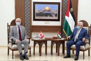 Palestinian President meets Canadian FM in Ramallah