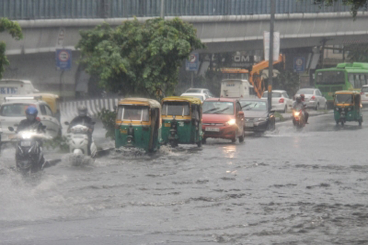 sultry weather conditions, Incessant rainfall, waterlogging, national capital
