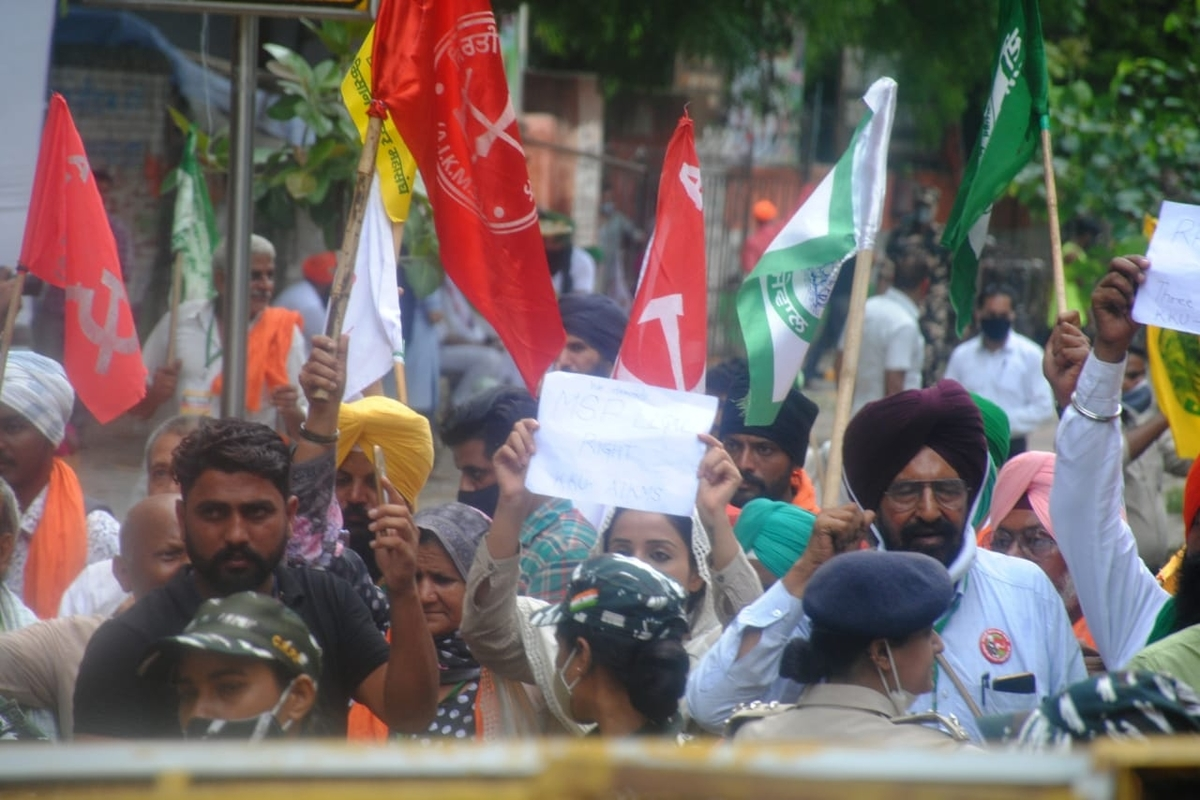 AAP, Samyukt Kisan Morcha, Bharat Bandh