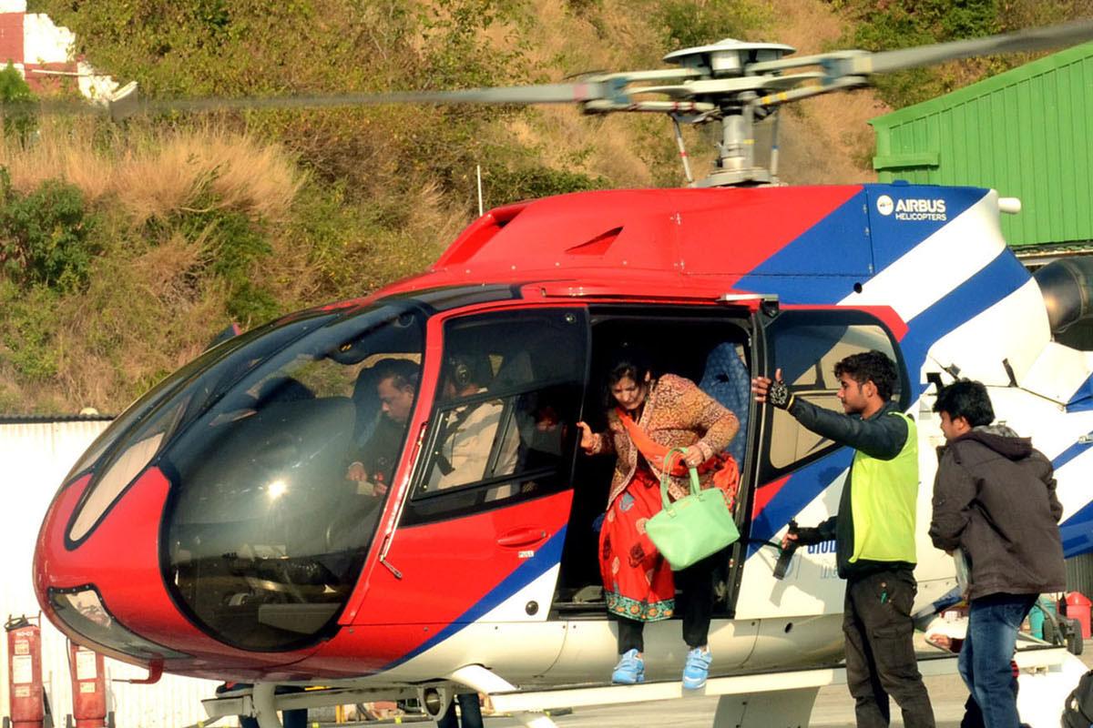 Helicopter, tourism, J&K