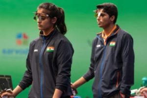 Olympics: Chaudhary-Manu pair finishes 7th in air pistol mixed team