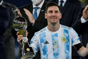 Messi dedicates win to Argentinians and Diego