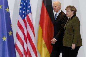 Neck rubs, tapped phones: Merkel has history with US leaders