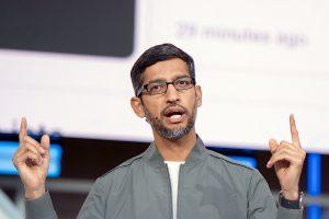 Sundar Pichai says free, open internet under attack