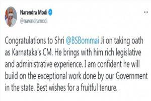 PM Modi showers praise on Yediyurappa, congratulates Bommai