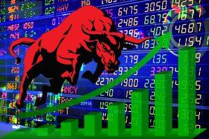 Sensex up 200 points, banking stocks rise