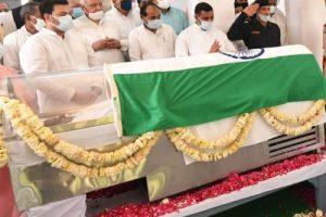 Kalyan Singh's cremation in Bulandshahr on Monday afternoon