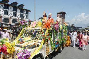 Janmashtami procession taken out in Srinagar