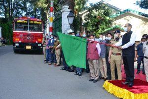 Jai Ram flags off 17 fire fighting vehicles