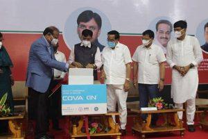 Mansukh Mandaviya releases first commercial batch of COVAXIN manufactured in Ankleshwar, Gujarat