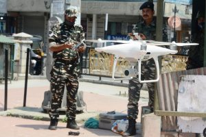 Drones being used by police in Srinagar for smooth I-Day celebrations