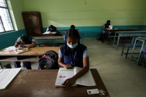 Schools, colleges reopen for classes 9-12 in Karnataka after five months