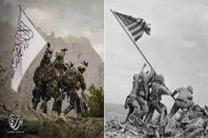 Taliban mocks America with iconic World War II photo