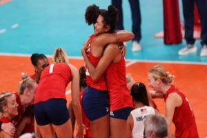 US sweep Brazil to win their first women's Olympic volleyball gold