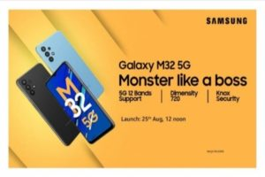 Samsung to unveil Galaxy M32 5G in India on 25 August