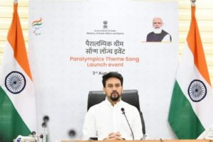 Sports Minister launches theme song for Indian Paralympic contingent