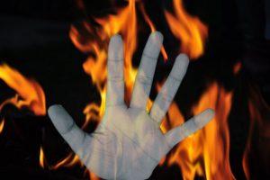 Molestation complaint against son, woman set on fire by parents
