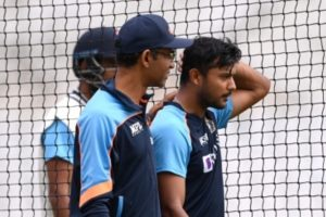 Opener Agarwal hit on the head, ruled out of first Test