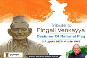 Tributes pour in for Pingali Venkayya on birth anniversary