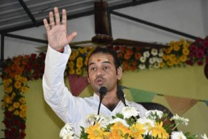 Tej Pratap in Mathura amid discord in RJD, family