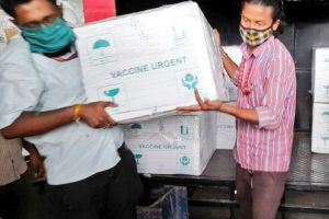 Large consignment of vaccines reach city airport