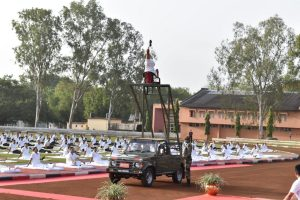 Yoga atop a 20 feet ladder on a moving vehicle