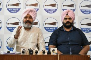 Fulfill poll promises or changing CM face will not help Congress: AAP Punjab to Channi