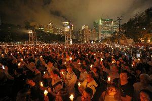 Hong Kong activists jailed over Tiananmen crackdown vigil