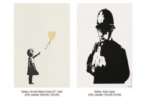 British Street Artist, Banksy's 'Girl With Balloon' heads to auction