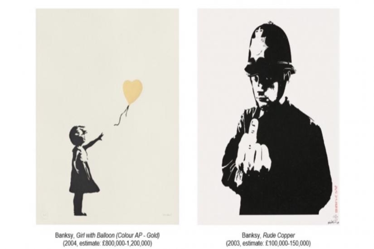 Banksy's 'Girl With Balloon', Christie's auction, art, Banksy