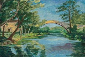Churchill's The Bridge at Aix en Provence (1948) at auction for the first time