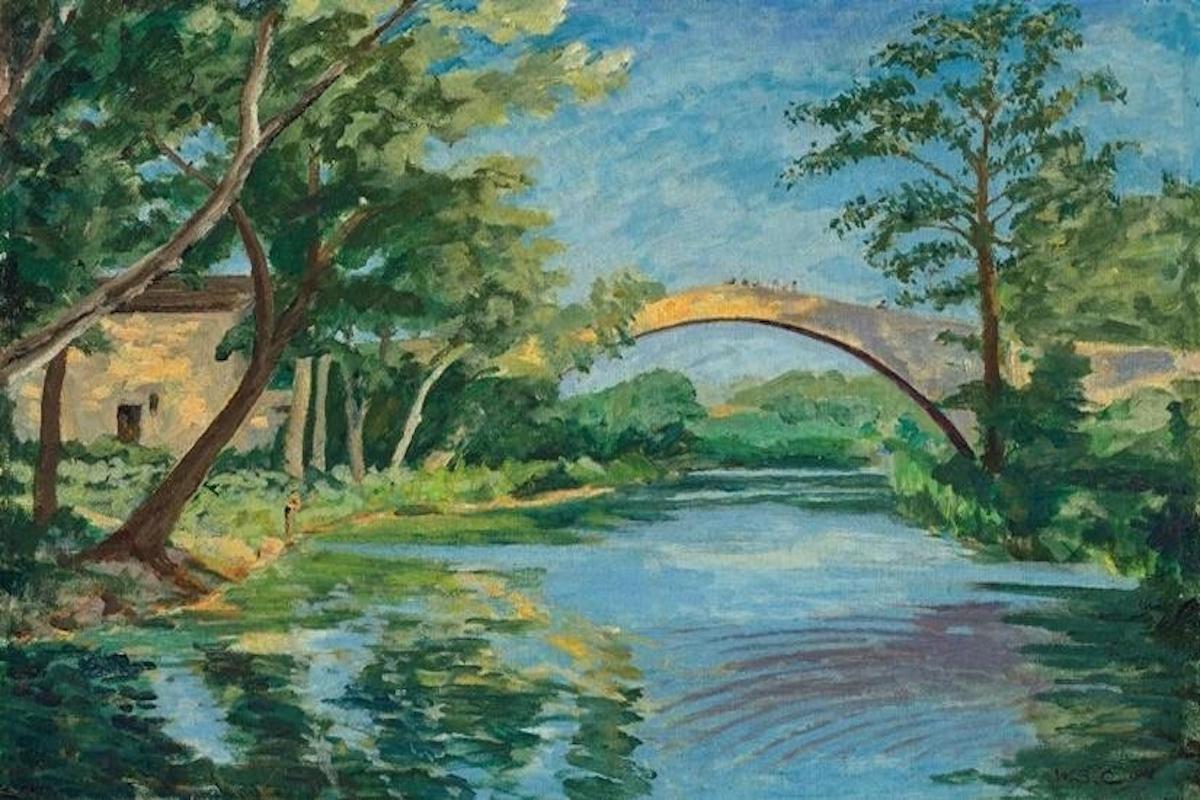 The Bridge at Aix en Provence (1948) , Churchill, auction, art