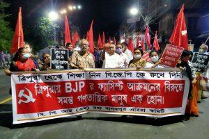 Bengal CPM flays 'fascist' Tripura govt over 'attacks'
